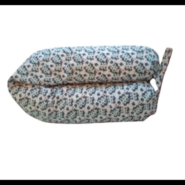 Coussins Etc. Coussins Etc - Big Microbead Cushion, Blueberry Flower