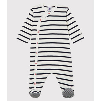 Petit Bateau Petit Bateau - Pyjama à Pattes, Rayure Marinière