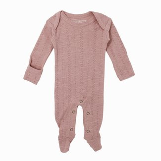 L'ovedbaby L'ovedbaby - Organic Cotton Pointelle Footie, Thisle
