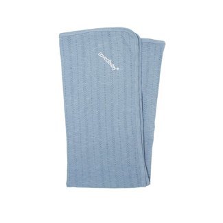 L'ovedbaby L'ovedbaby - Organic Cotton Pointelle Blanket, Pool