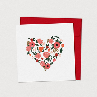 Mimosa Design Mimosa Design - Greeting Card, Heart Petals