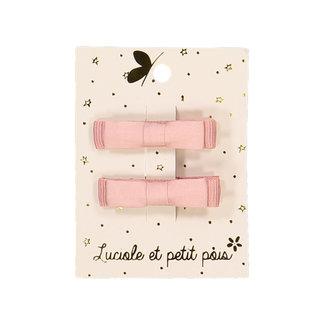 Luciole et petit pois Luciole et Petit Pois - Paquet de 2 Barrettes Mini Kimono, Vieux Rose