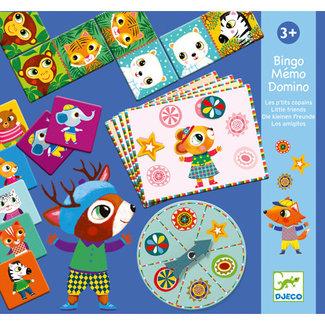 Djeco Djeco - Jeu Bingo Memo Domino, Les P'tits Copains