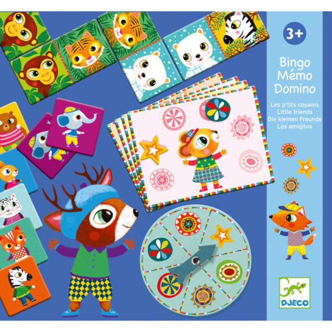 Djeco Djeco - Bingo Memo Domino Game, Little Friends