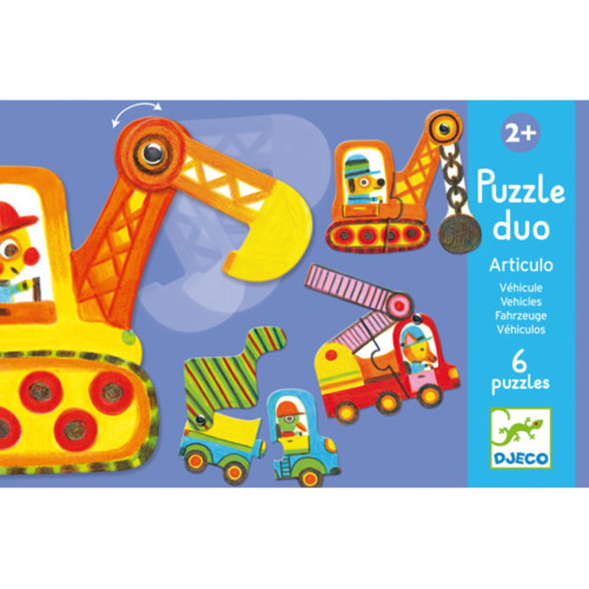 Djeco Djeco - Duo Puzzle, Articulo Vehicules