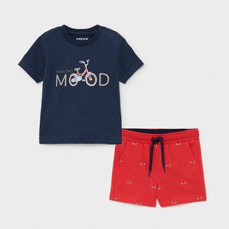 Mayoral Mayoral - T-shirt and Bermuda Shorts Set, Navy Bike