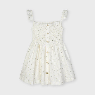 Mayoral Mayoral - Printed Dress, Ecru