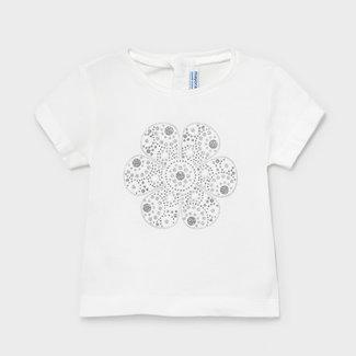 Mayoral Mayoral - T-shirt, White Flower