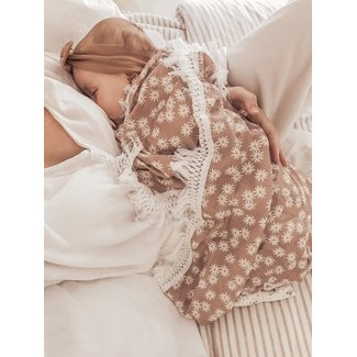 Ziggy Lou By Ziggy Lou - Mini Daisy Dusty Rose Fringe Swaddle