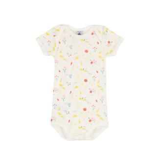 Petit Bateau Petit Bateau - Short Sleeves Onesie, Tinyfruit Print