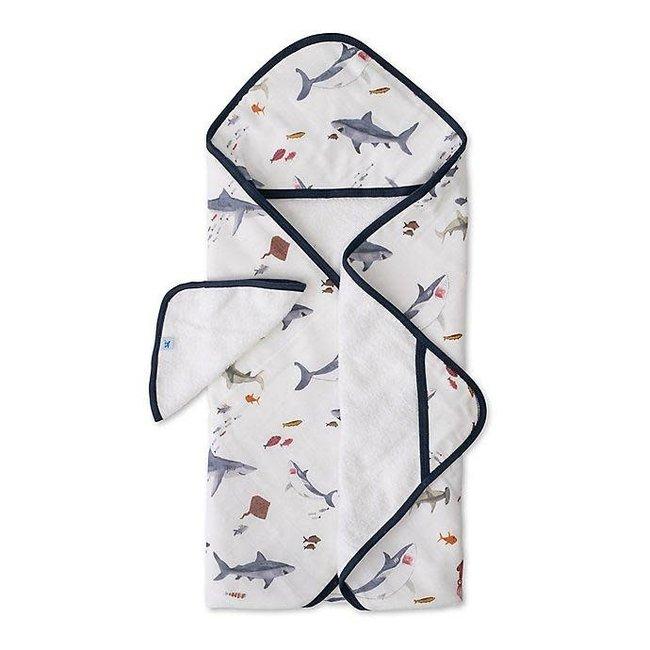 Little Unicorn Little Unicorn - Cotton Hooded Towel and Wash Cloth, Shark