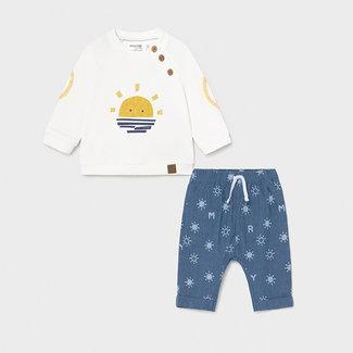 Mayoral Mayoral - Sweater and Pants Set, Denim Sun