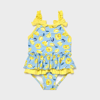 Mayoral Mayoral - Ruffle Swimsuit, Yellow Flower
