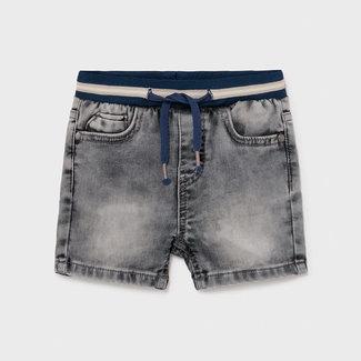 Mayoral Mayoral - Denim Belt Shorts, Light Grey