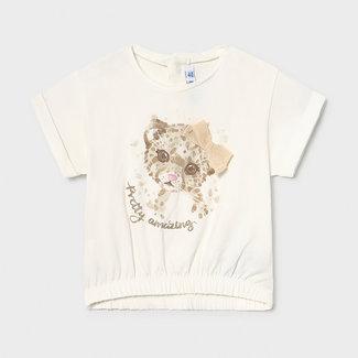Mayoral Mayoral - Leopard T-shirt, Ecru