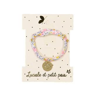 Luciole et petit pois Luciole et Petit Pois - Fine Gold Medallion Bracelet, BFF Heart