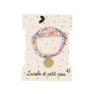 Luciole et petit pois Luciole et Petit Pois - Bracelet Médaillé Doré à L'Or Fin, Amour Coeur