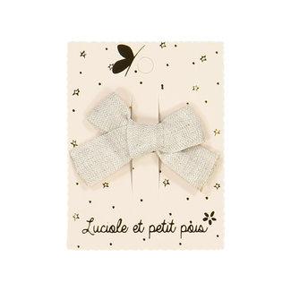 Luciole et petit pois Luciole et Petit Pois - Mini Princess Hair Clip, Taupe Linen