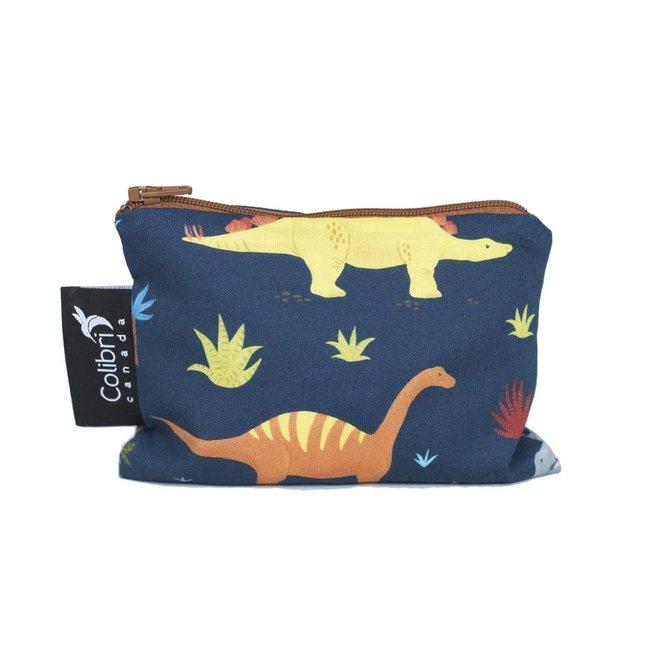 Colibri Colibri - Small Reusable Snack Bag, Dinosaurs