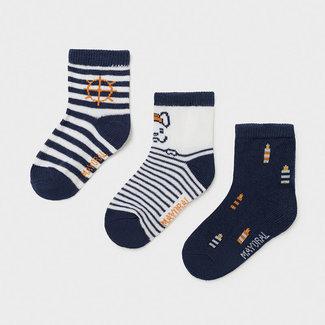 Mayoral Mayoral - Pack of 3 Pairs of Socks, Nautical