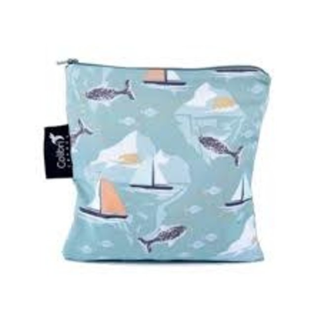 Colibri Colibri - Large Reusable Snack Bag, Narwhal