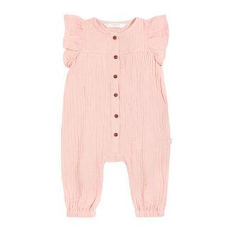 Petit Lem Petit Lem - Ruffle Sleeve Romper, Pink