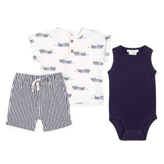 Petit Lem Petit Lem - T-shirt, Onesie and Short Set, Ships