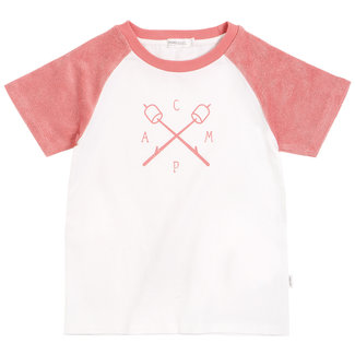 Miles Baby Miles Baby - Camp T-shirt, White and Pink