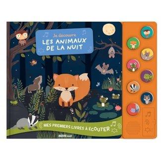 Auzou Auzou - Sensory Book,  Discovering Night Animals
