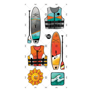 Pico Tatouages Temporaires Pico Tatoo - Temporary Tattoo, Paddle Boards