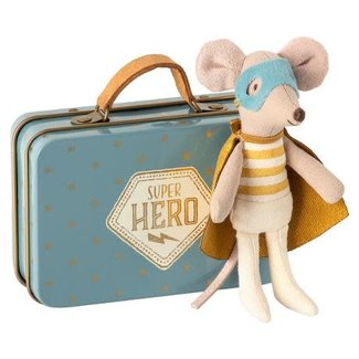 Maileg Maileg - Superhero Mouse, Little Brother in Suitcase