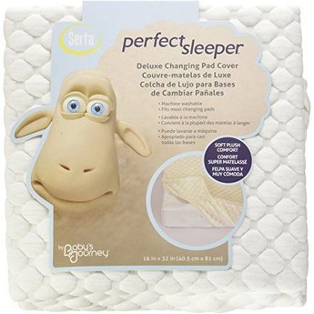 Baby's Journey Housse de Matelas à Langer Perfect Sleeper de Serta/Serta Perfect Sleeper Changing Pad Cover, Crème/Cream