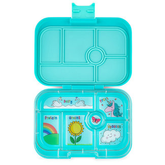 Yumbox Yumbox - Original Bento Box 6 Compartments, Aqua Unicorn