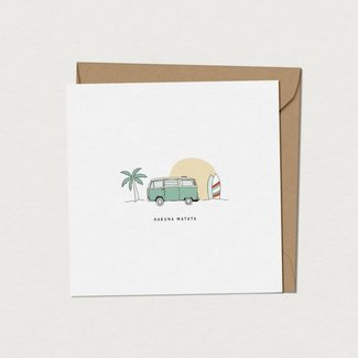 Mimosa Design Mimosa Design - Greeting Card, Vintage VW