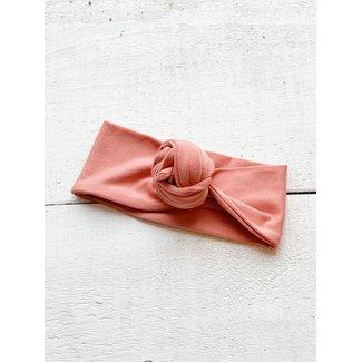 Mini Bretzel Mini Bretzel - Flower Bun Premium Headband, Peach