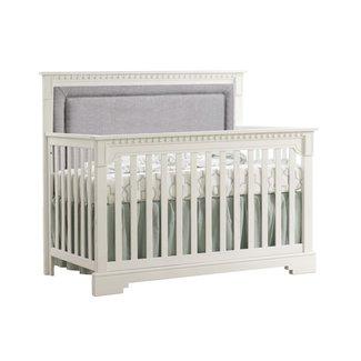 Natart Juvenile Natart Ithaca - 5-in-1 Convertible Crib Upholstered Panel, Fog Linen Weave
