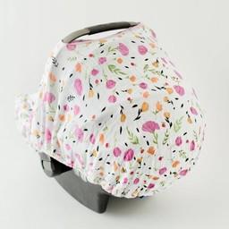 Little Unicorn Little Unicorn - Abri pour Siège de Voiture/Car Seat Canopy, Baies et Fleurs/Berry and Bloom