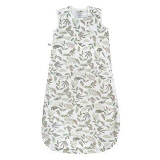 Perlimpinpin Perlimpinpin - Cotton Muslin Nap Bag, Green Leaves