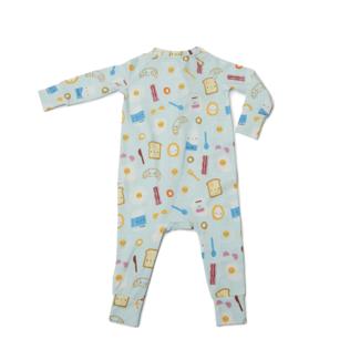 Loulou Lollipop Loulou Lollipop - Footie Pyjama, Blue Breakfast