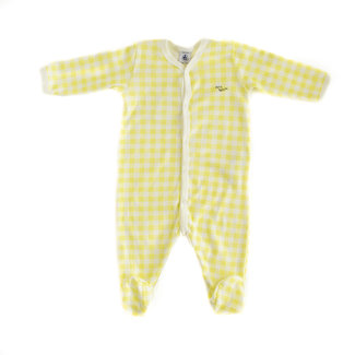 Petit Bateau Petit Bateau - Footie Pyjama, Yellow Johnny Print