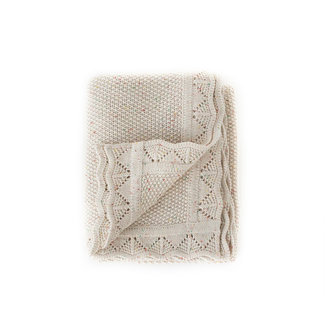 Ziggy Lou Ziggy Lou - Heirloom Knit Blanket, Oatmeal Fleck