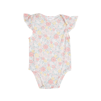 Angel Dear Angel Dear - Ruffle Sleeve Onesie, Sweet Ditsy