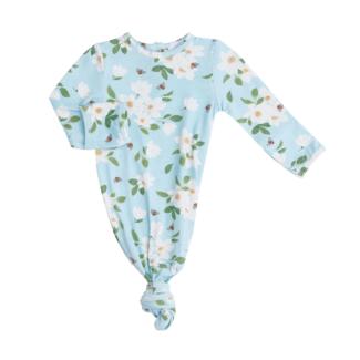 Angel Dear Angel Dear - Knotted Gown, Magnolias Blue, 0-3 months