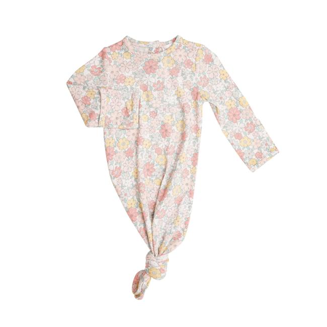 Angel Dear Angel Dear - Knotted Gown, Sweet Ditsy, 0-3 months