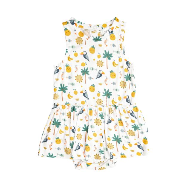 Angel Dear Angel Dear - Onesie with Skirt, Petite Tropicale