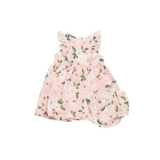 Angel Dear Angel Dear - Sundress and Diaper Cover, Magnolias Pink