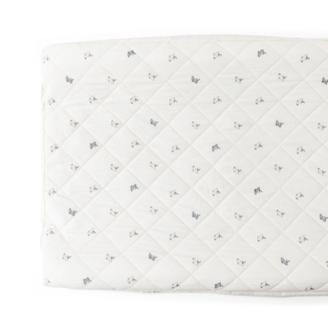 Pehr Pehr - Organic Cotton Change Pad Cover, Hatchling Bunnies