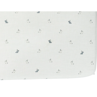 Pehr Pehr - Chambray Fitted Sheet, Hatchling Bunnies