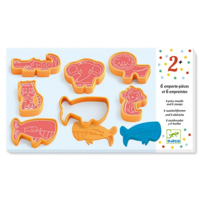 Djeco Djeco - Animal Shaped Play Dough Accessories, Orange