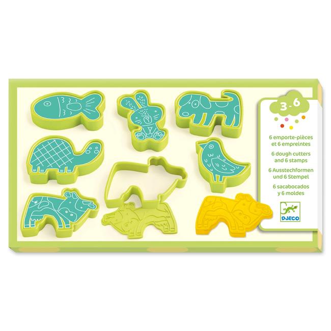 Djeco Djeco - Animal Shaped Play Dough Accessories, Green